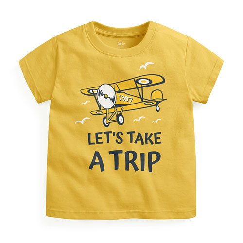 飛機印花T恤-Baby