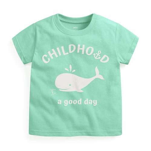 小鯨魚印花T恤-Baby