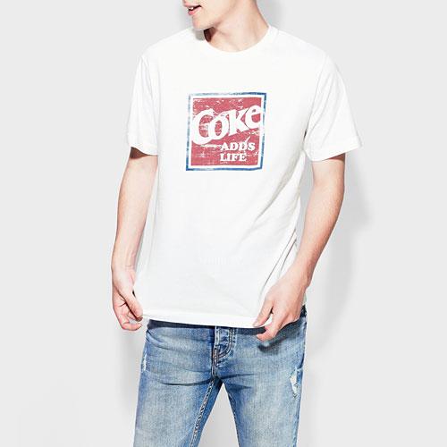 可口可樂印花T恤-04-男