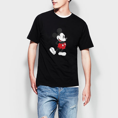 迪士尼系列印花T恤-06-男