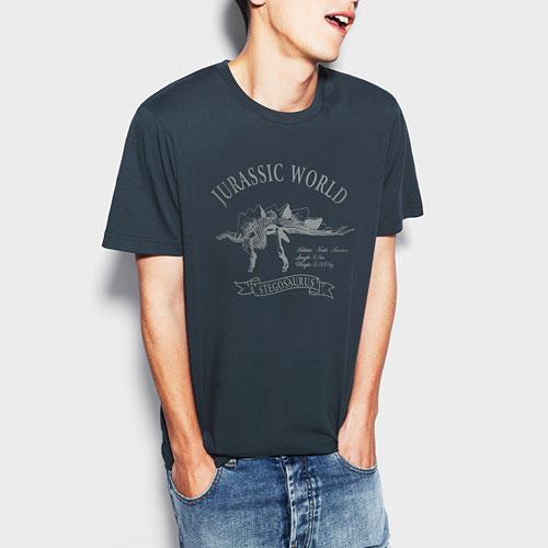 Jurassic World印花T恤-02-男