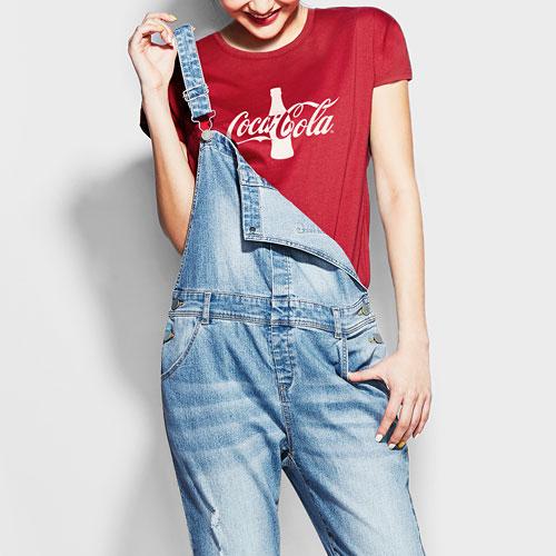可口可樂印花T恤-03-女