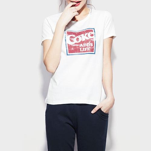 可口可樂印花T恤-04-女