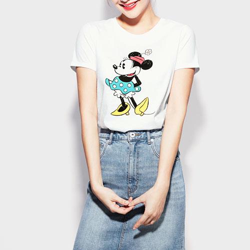 迪士尼系列印花T恤-24-女