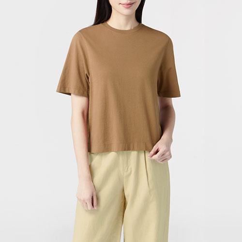 純棉短版圓領T恤-女