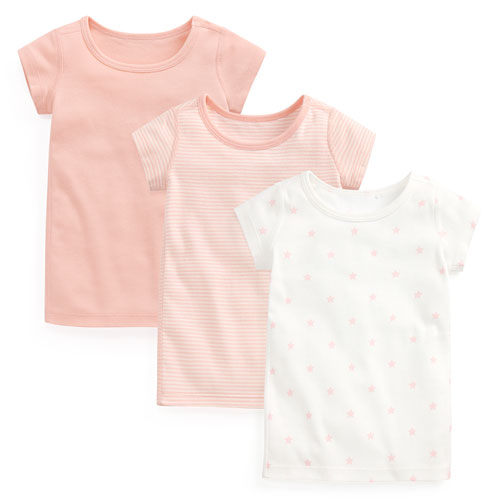 純棉羅紋T恤(3入)-Baby