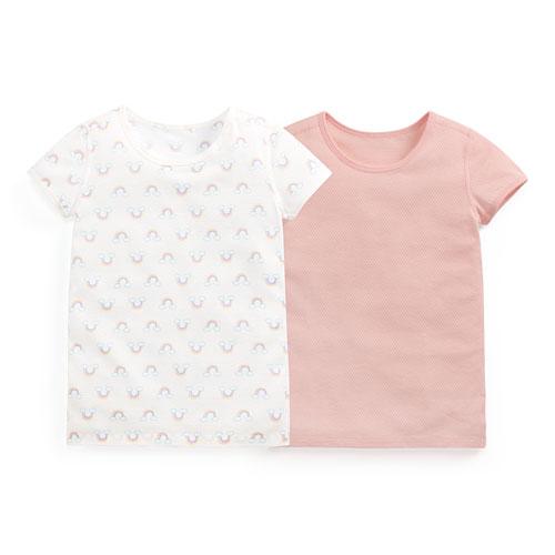 純棉網眼T恤(2入)-童