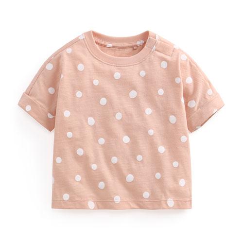 竹節棉點點寬鬆T恤-Baby