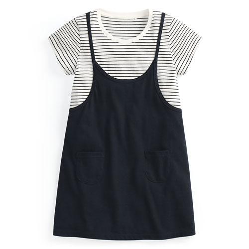 純棉條紋洋裝-童