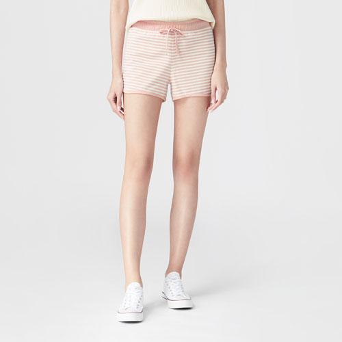 小毛圈條紋短褲-女
