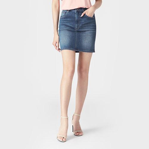 牛仔短裙-女