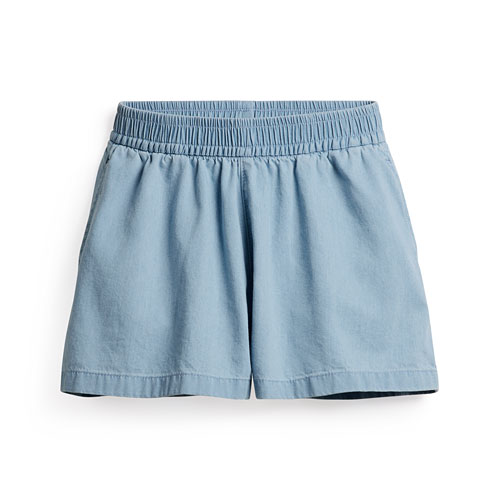 軟牛仔休閒短褲-童
