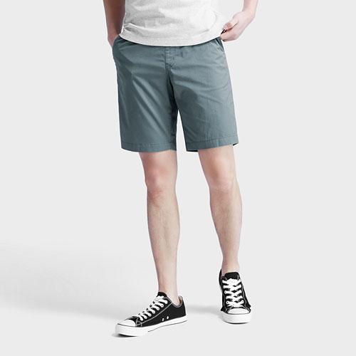 棉質鬆緊短褲-男