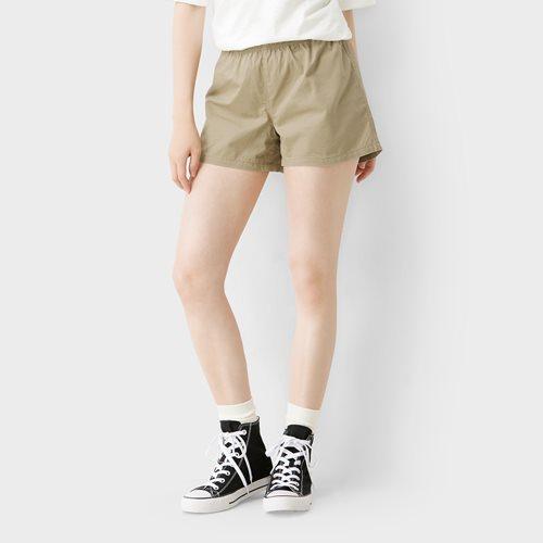 純棉鬆緊短褲-女