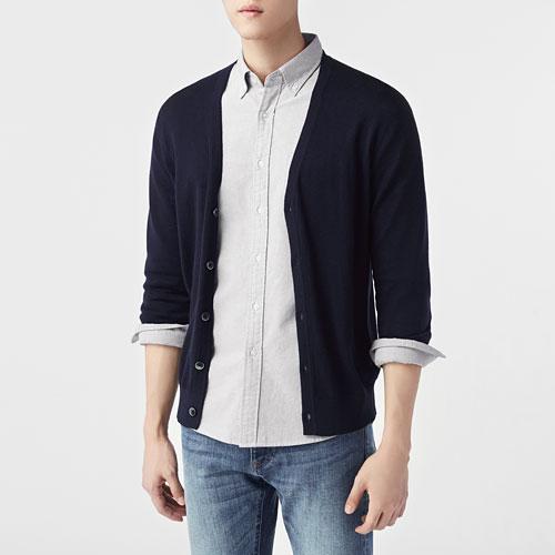 棉質針織外套-男