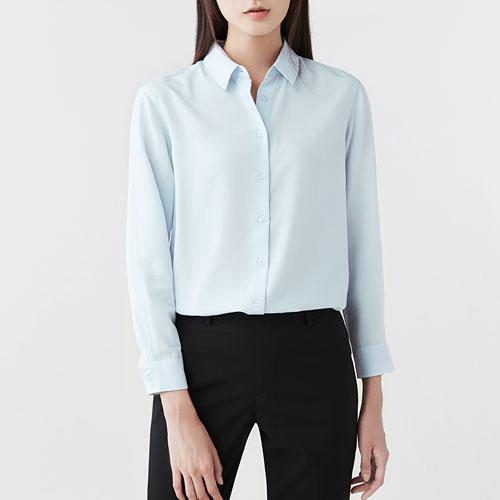 嫘縈長袖襯衫-女