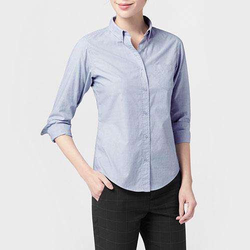 柔棉長袖襯衫-女