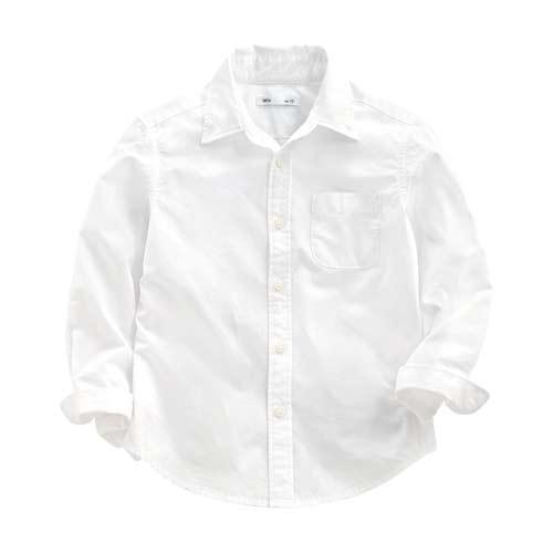 柔棉長袖襯衫-童