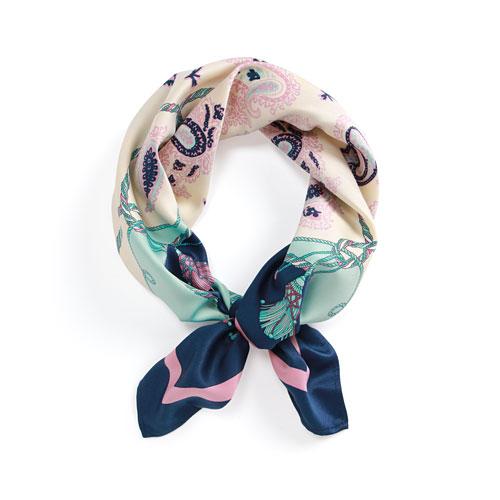 印花絲巾-女