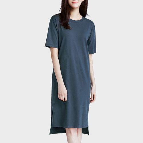 純棉寬版洋裝-女