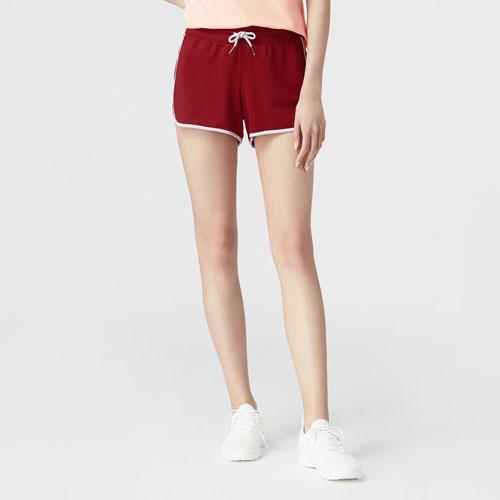 運動配色短褲-女