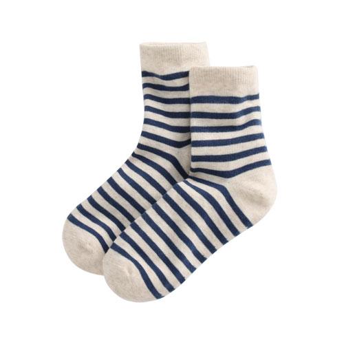 條紋中筒襪-女