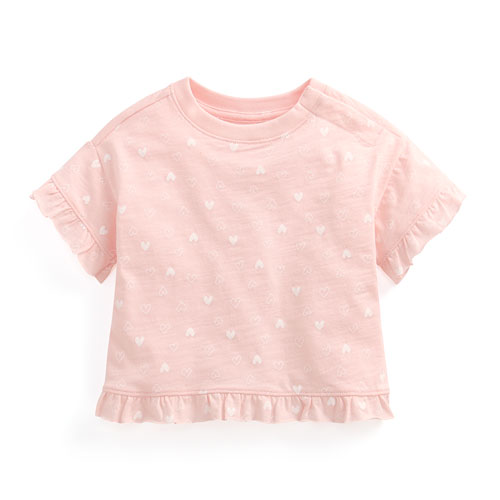 竹節棉荷葉袖T恤-Baby