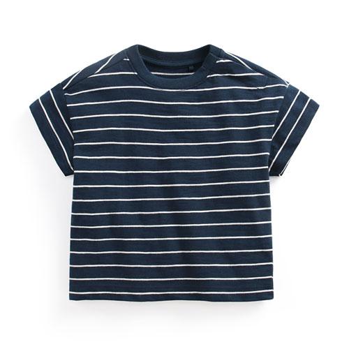 竹節棉條紋寬鬆T恤-Baby