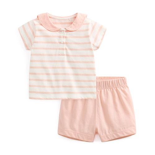 純棉條紋套裝-Baby