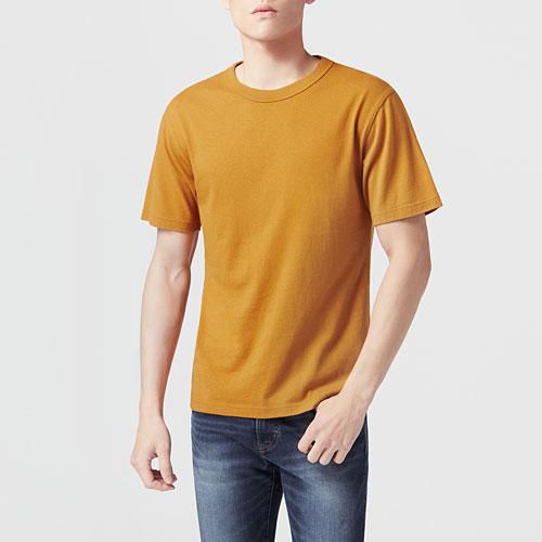 粗紡圓領T恤-男