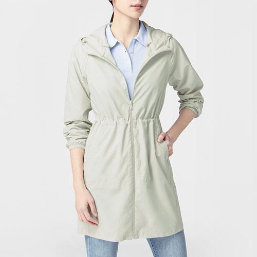 輕型長版風衣外套-女
