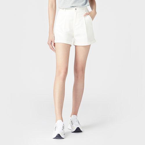 多色牛仔短褲-女