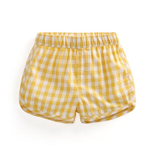 純棉格紋短褲-Baby