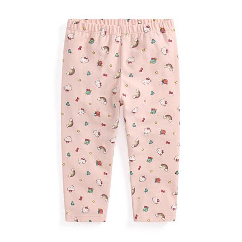 Hello Kitty彈力七分內搭褲-童