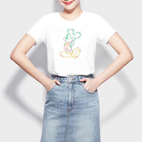 迪士尼系列印花T恤-04-女