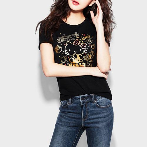 Hello Kitty印花T恤-08-女