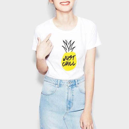 鳳梨印花T恤-女