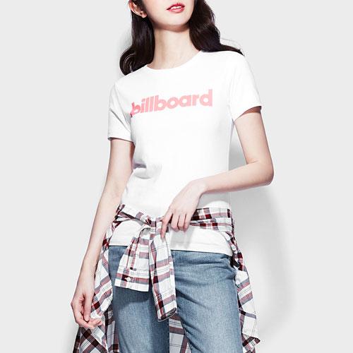 billboard印花T恤-03-女