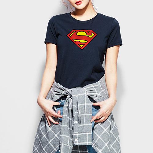 Superman印花T恤-01-女