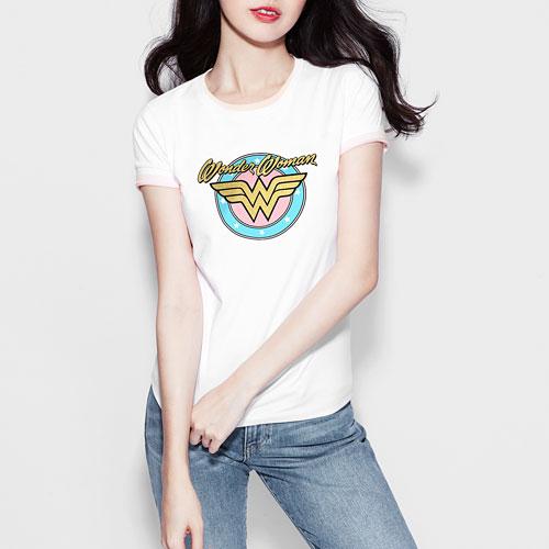 Wonder Woman印花T恤-01-女