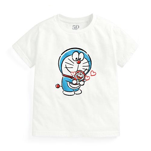哆啦A夢50周年印花T恤-04-童