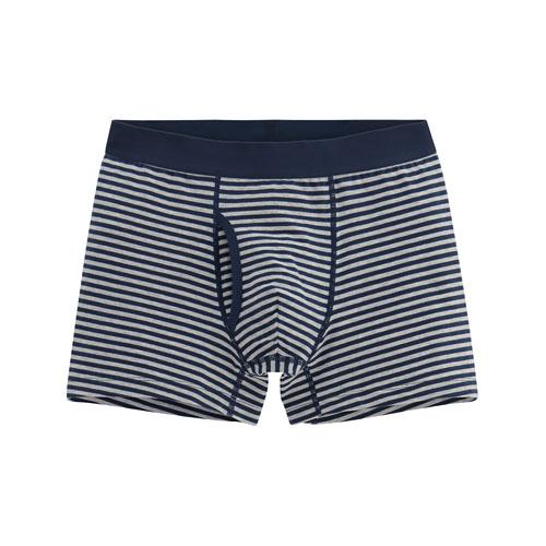 棉質條紋平口內褲-男