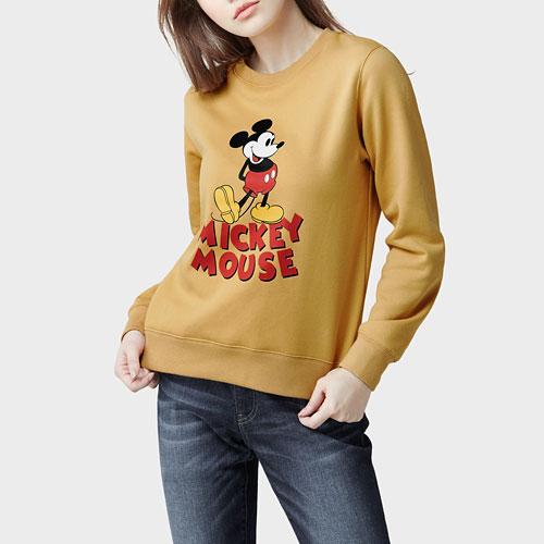 迪士尼系列刷毛圓領衫-20-女