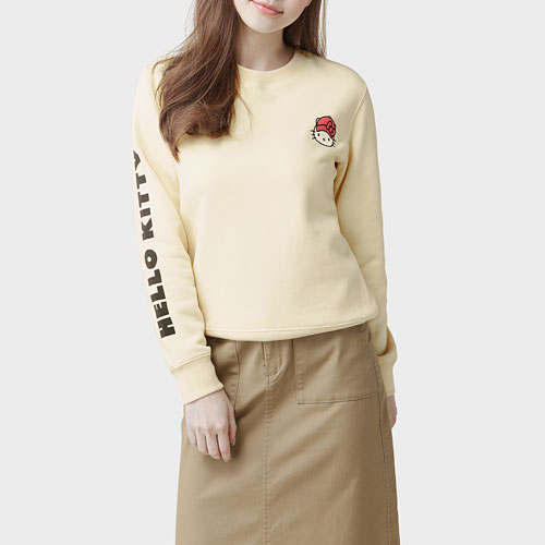 Hello Kitty刷毛圓領衫-03-女