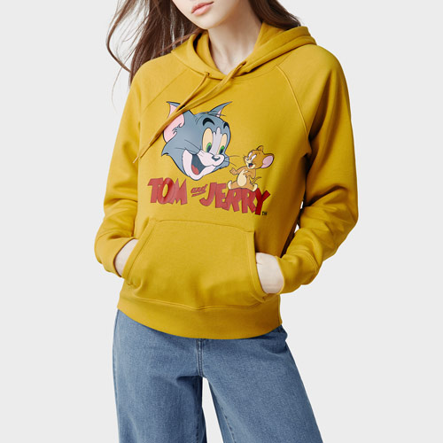 Tom & Jerry刷毛連帽衫-02-女