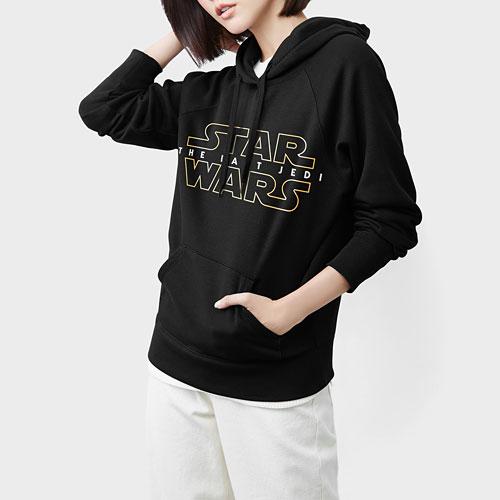 STAR WARS系列刷毛連帽衫-07-女