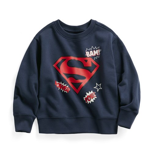 Superman毛圈圓領衫-01-童