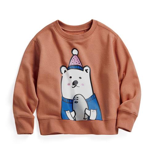 Polar Bear Benjamin毛圈圓領衫-01-童