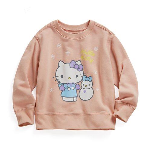 Hello Kitty毛圈圓領衫-01-童