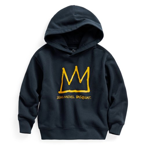 Jean-Michel Basquiat毛圈連帽衫-02-童